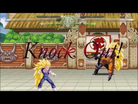 Goku vs Vegeta MUGEN BATTLE