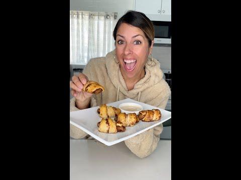 Cinnamon Roll Wrapped Breakfast Sausages (Vegan)