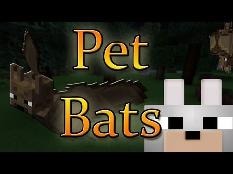 Minecraft Mods - Pet Bats 1.4.2 Review And Tutorial
