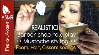 men s shave mustache styling asmr roleplay gentle whispering french accent