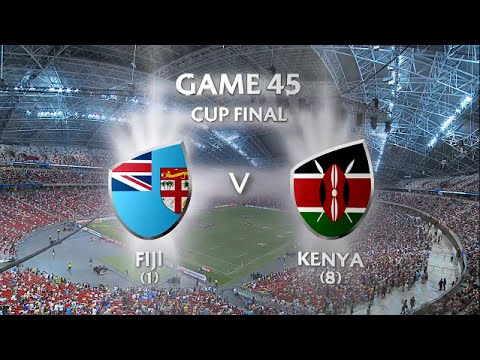 Fiji Vs Kenya Cup Final Singapore 7s 2016 HD