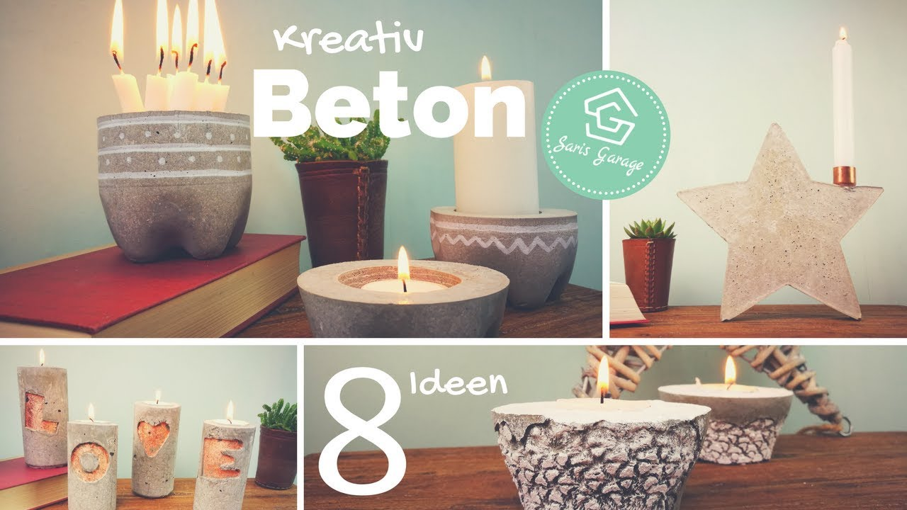 kerzenhalter aus beton kreativ beton diy deko. Black Bedroom Furniture Sets. Home Design Ideas