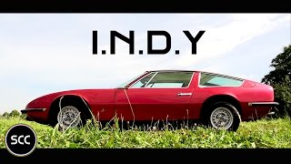 MASERATI INDY 1969 - Test drive in top gear - V8 engine sound | SCC TV