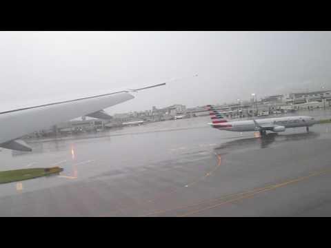 Landing at Miami International Airport - American Airlines 777-300ER