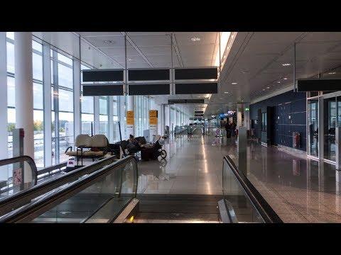 Inside Terminal 2 of Munich Airport (MUC) in Munich, Germany