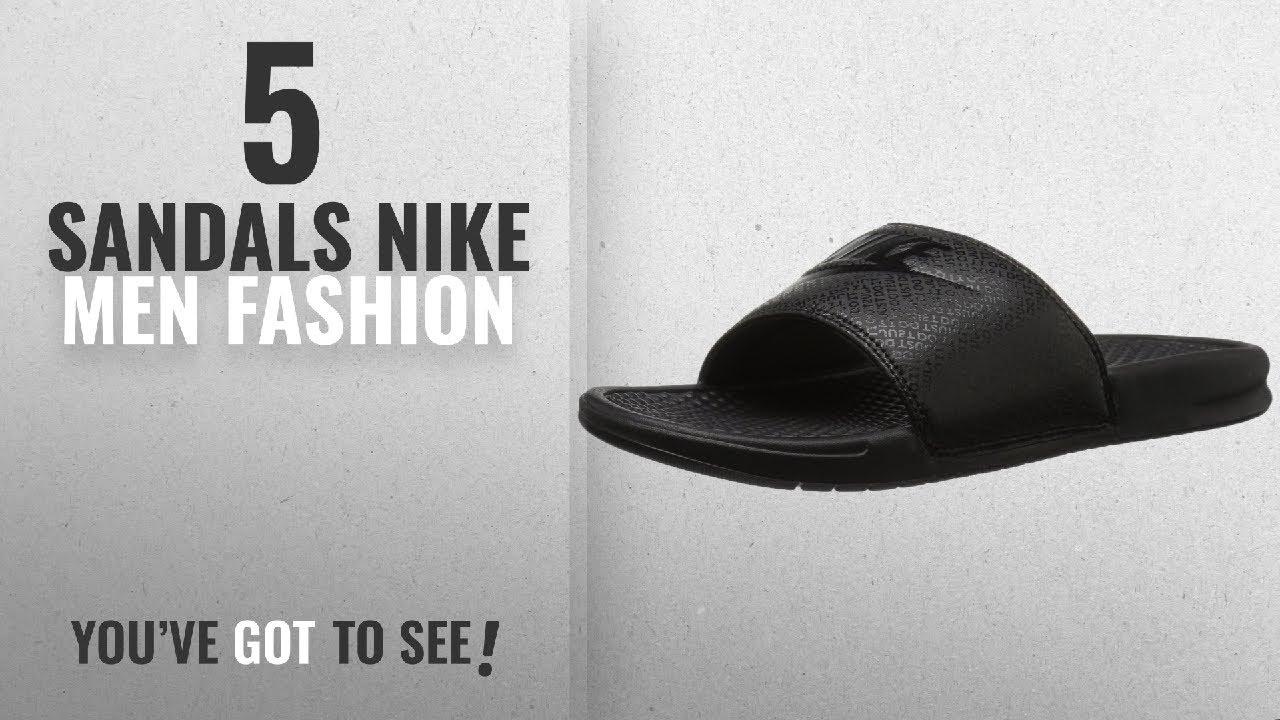 best loved 93852 b103c Top 10 Sandals Nike  Men Fashion Winter 2018    NIKE Men s Benassi Just Do  It Slide Sandal, Black, 9