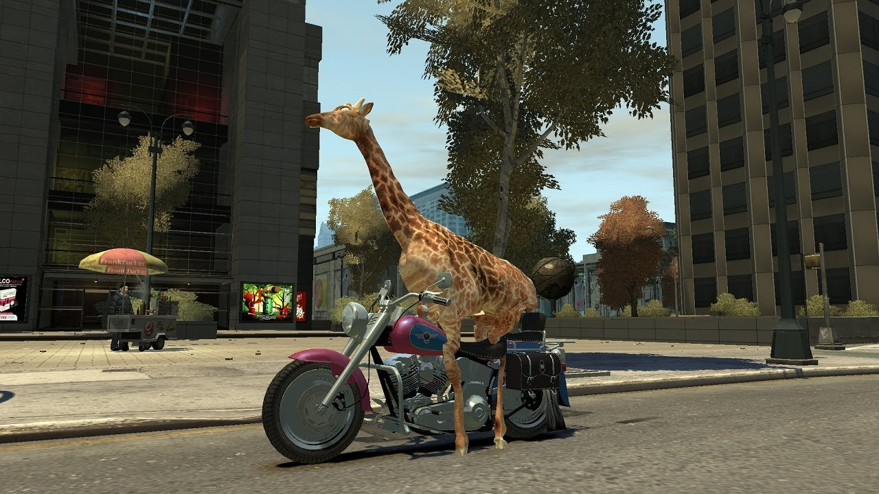 Grand Theft Auto IV - Giraffe (MOD) HD - YouTube