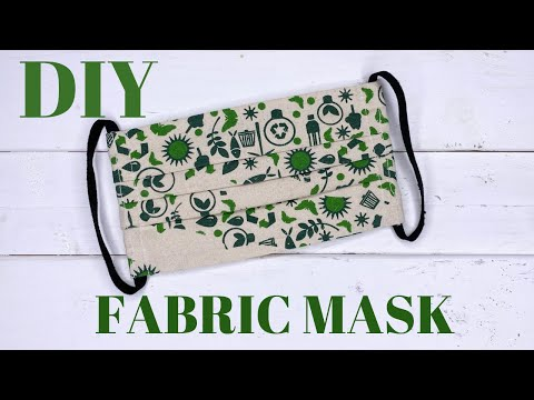 How To Make A Fabric Face Mask At Home Easy (With Filter Pocket) Sewing Tutorial