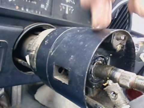 1991 F150 Remove steering wheel to replacerepair key and tumbler  YouTube