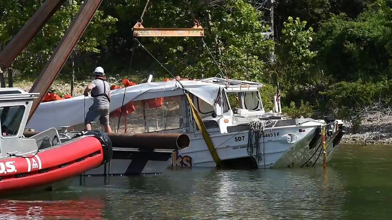 'Ride The Ducks' Boat Recovered From Bottom Of Table Rock