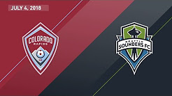 HIGHLIGHTS: Colorado Rapids vs. Seattle Sounders FC | July 4, 2018