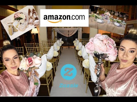 PLAN YOUR OWN WEDDING Using Amazon & Zazzle | DIY Wedding Decor | Affordable Wedding