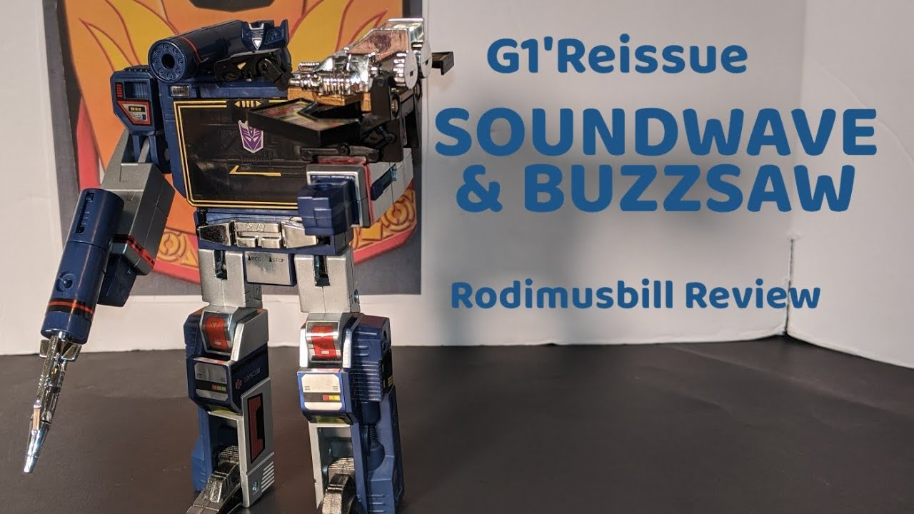 G1 Soundwave & Buzzsaw Walmart Exclusive Review By Rodimusbill