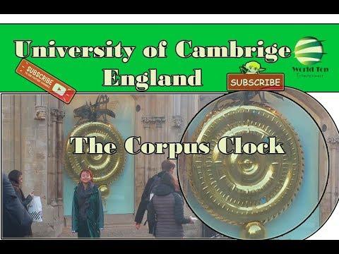 University of Cambridge England,university of Cambridge,Corpus Clock