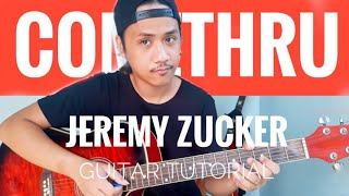 Comethru GUITAR CHORDS FINGERPICKING TUTORIAL Jeremy Zucker