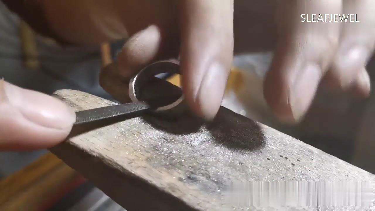 Handmade Jewelry Making Hammer Effect Minimalist Ring Youtube