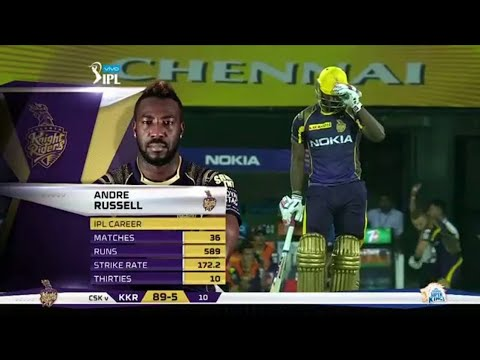 (Kkr Vs Csk ) Andre Russell 88 Of 36 Balls 11Sixs