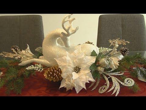 Centro de Navidad para Mesa, Chimenea o repisa DIY