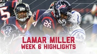 Lamar Miller's 178-Yard Performance | Colts vs. Texans | NFL Week 6 Player Highlights
