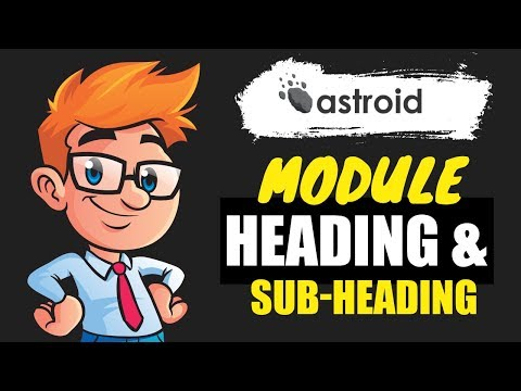 Using Heading & Subheading on Module Level in Joomla thumbnail
