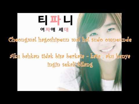Tiffany SNSD -  Because it's You (Love Rain Ost) Romanization Lyrics & Indo Sub