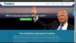 Predictit.org Review: Political Prediction Stock Market for US Elections, Politics and WORLD Website