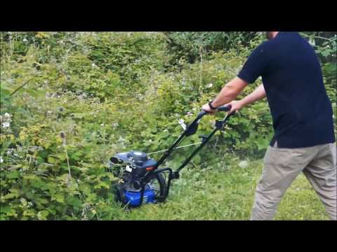 5.5hp Petrol Push Field Grass Trimmer - Strimmer