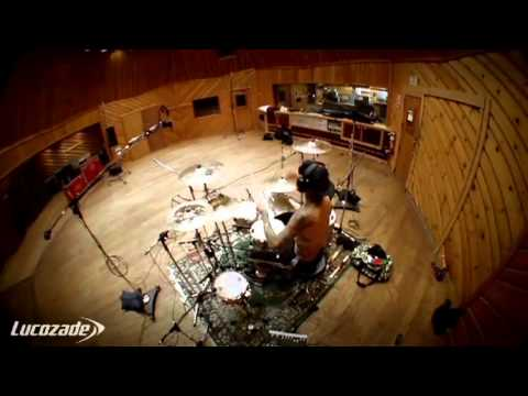 Travis Barker recording session - 'Simply Unstoppable YES REMIX' Tinie Tempah