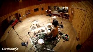 Travis Barker recording session -