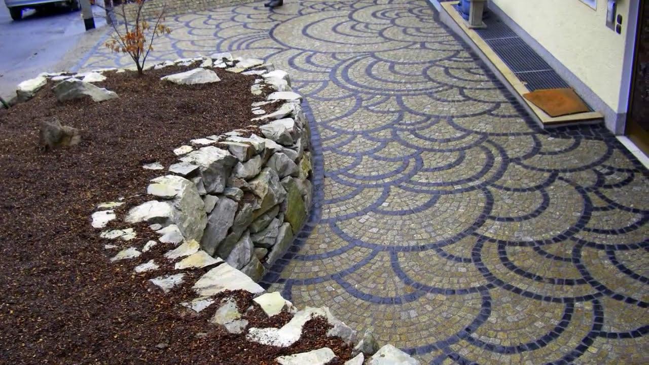 Verlegemuster Granitpflaster naturstein pflaster wilde schuppen