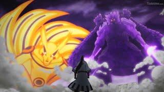 Naruto Modo Kurama Y Sasuke Susanoo Vs Isshiki, Naruto Se Sacrifica Por Sasuke Y Es Sellado [60FPS]