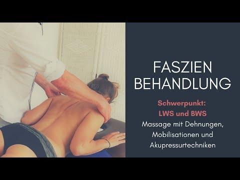 Dorsale Faszienarbeit (anatomy trains) mit dem Fokus Brust- und Lendenwirbelsäule