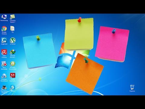 Как создать записки (Заметки, стикеры) на рабочем столе Windows