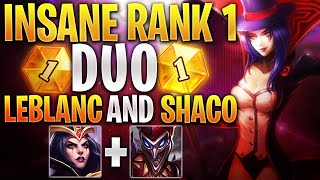 SCARIEST Challenger DUO - RANK 1 Leblanc and Shaco - LoL Highlights and Funny Moments