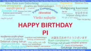 Pi   Languages Idiomas - Happy Birthday