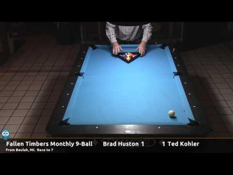 Brad Huston vs Ted Kohler - 2016-11-05 Fallen Timbers monthly 9-ball