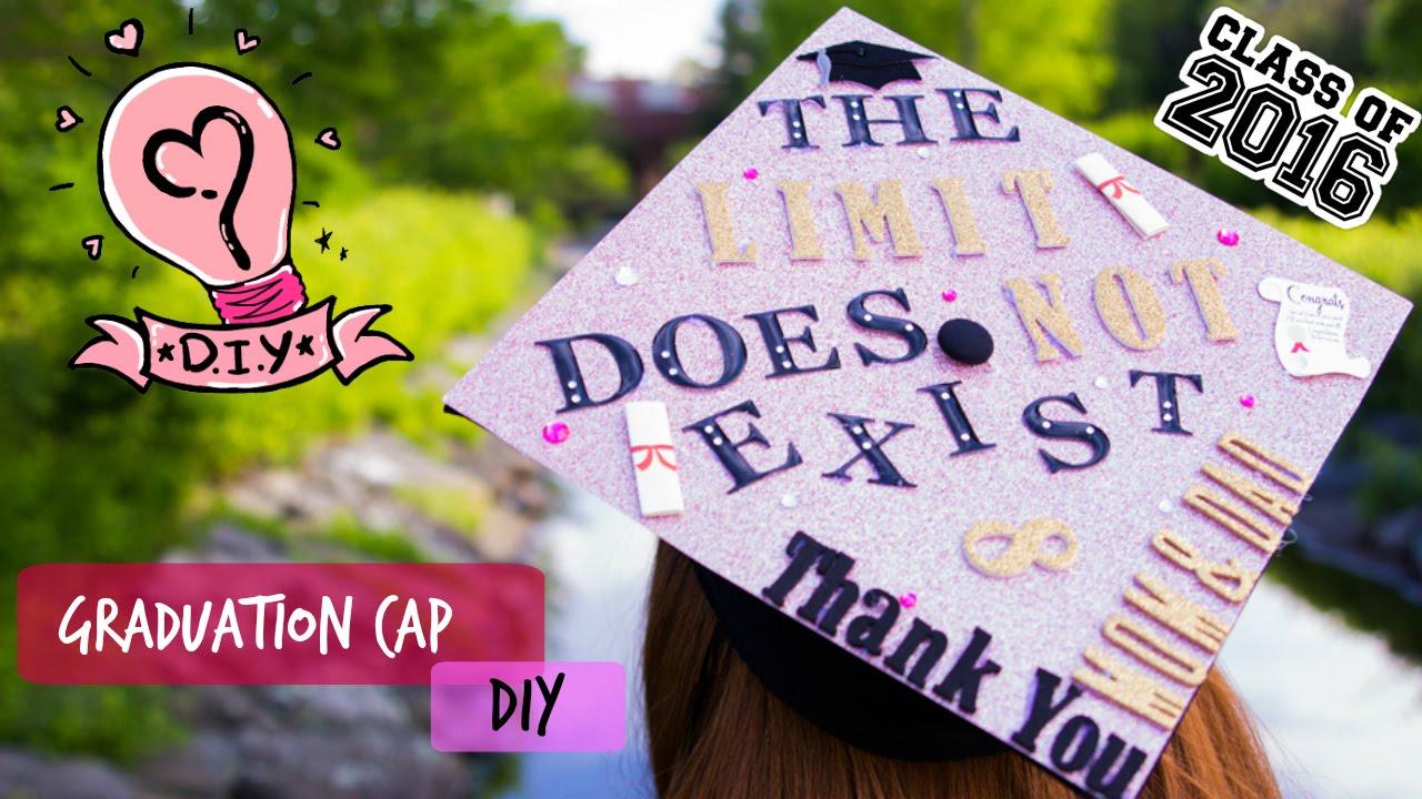 Diy Easy Graduation Cap Tutorial Taysdays Youtube