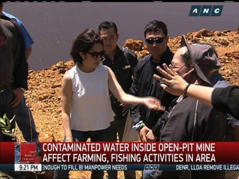 Lopez Inspects Abandoned Open-pit Mine In Zambales