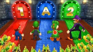 Mario Party 9 Step it Up - Mario Vs Luigi Vs Waluigi Vs Yoshi (Master Cpu)