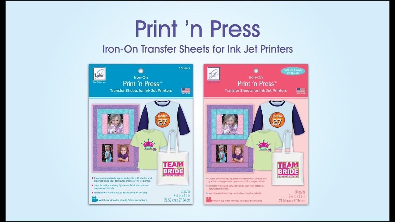 Print N Press Transfers For Ink Jet Printers Youtube