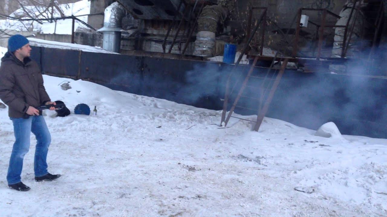 Хауда мр-341 выстрел дуплетом - YouTube