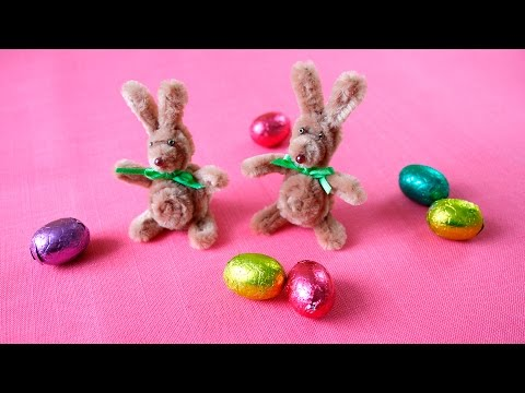 Pfeifenputzer Osterhasen Diy Easter Bunny Made Of Pipe Cleaners