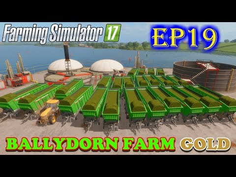 farming-simulator-17-|-ballydorn-farm-gold-|-timelapse-|-episode-19-|-collecting-loading-wagons