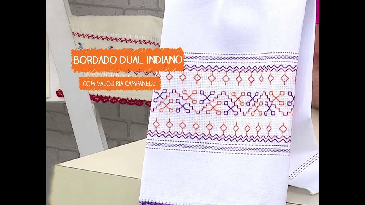 Adesivo De Parede Sala ~ Bordado Dual Indiano com Valquiria Campanelli Vitrine do Artesanato na TV Rede Família YouTube