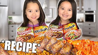 Ram-Don Chapaguri Noodle RECIPE From PARASITE MOVIE! Jjapaguri