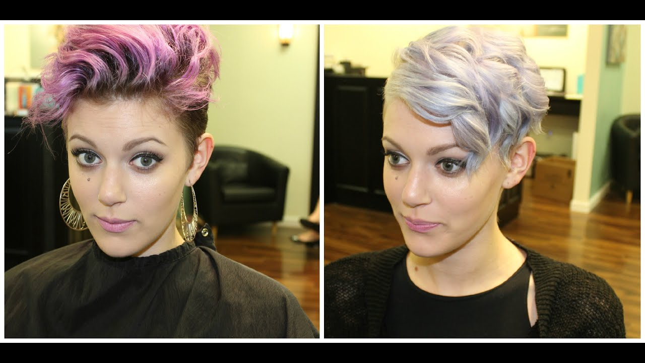 lilac hair color inspired by kelly osborne youtube