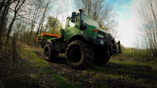 Unimog U1700 | Wie düngt das Unimog Team-Fitzen?? | Amazone ZA-M 1500 | How to sprinkle fertilizer?