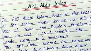 Write an essay on APJ Abdul kalam || Essay writing on APJ Abdul kalam in english