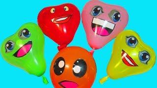 Сборник Шарики Учим цвета с воздушными шариками Развивающая Песня про шарики Мультик Лопаем шарики