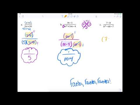 Algebra II @ MHS — Simplifying Rational Expressions (6.02)